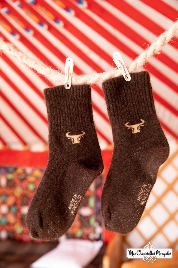 Chaussettes très chaudes en poil de yack.