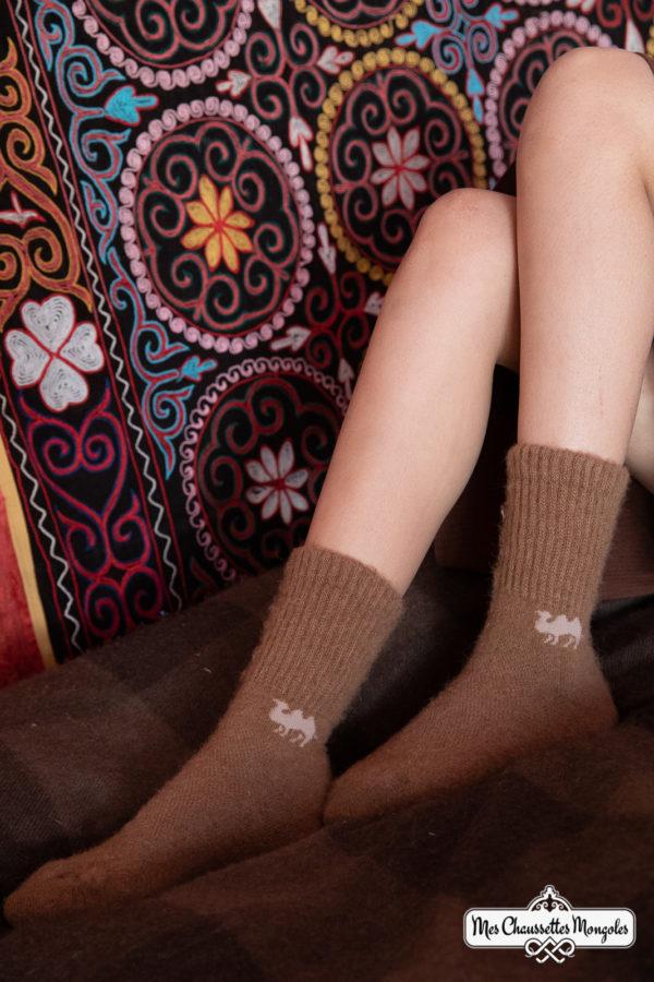Chaussettes en laine de Mongolies super chaudes