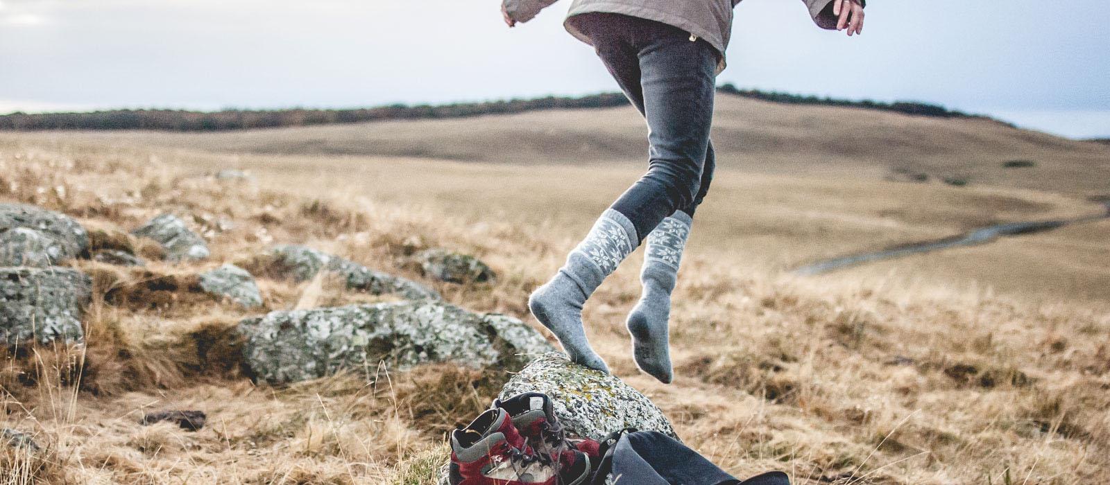 Chaussettes taillées pour l'aventure
